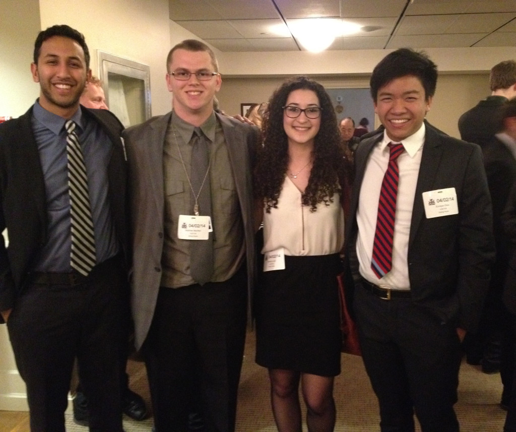 Student Trustees participate in Catholic Education Lobby Day at Queen's Park.