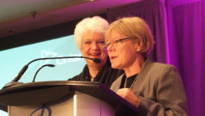 OCSTA President, Kathy Burtnik, with Minister of Education, Liz Sandals.