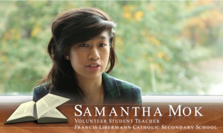 Faith in Our Future – Catholic School Alumna – Samantha Mok – Volunteer Teacher