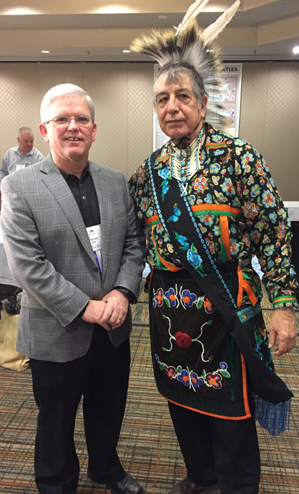 OCSTA President Patrick Daly with Elder Garry Sault