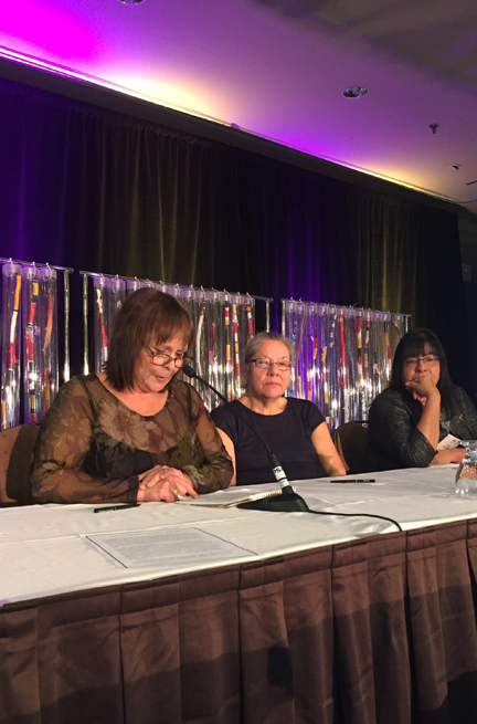 First Nations Catholic Trustees: Judy Ellis, Judy Wawia and Judy Manitowabi