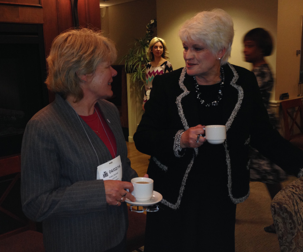 OCSTA Vice President, Kathie Burtnik with Minister of Education, Liz Sandals.