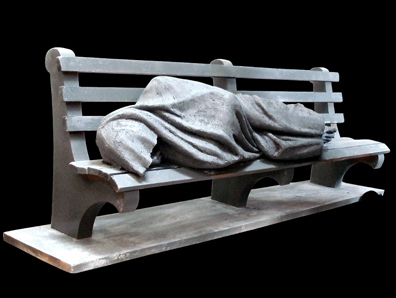 'Homeless Jesus' Statue Miniatures Raise Awareness for World Homeless Day