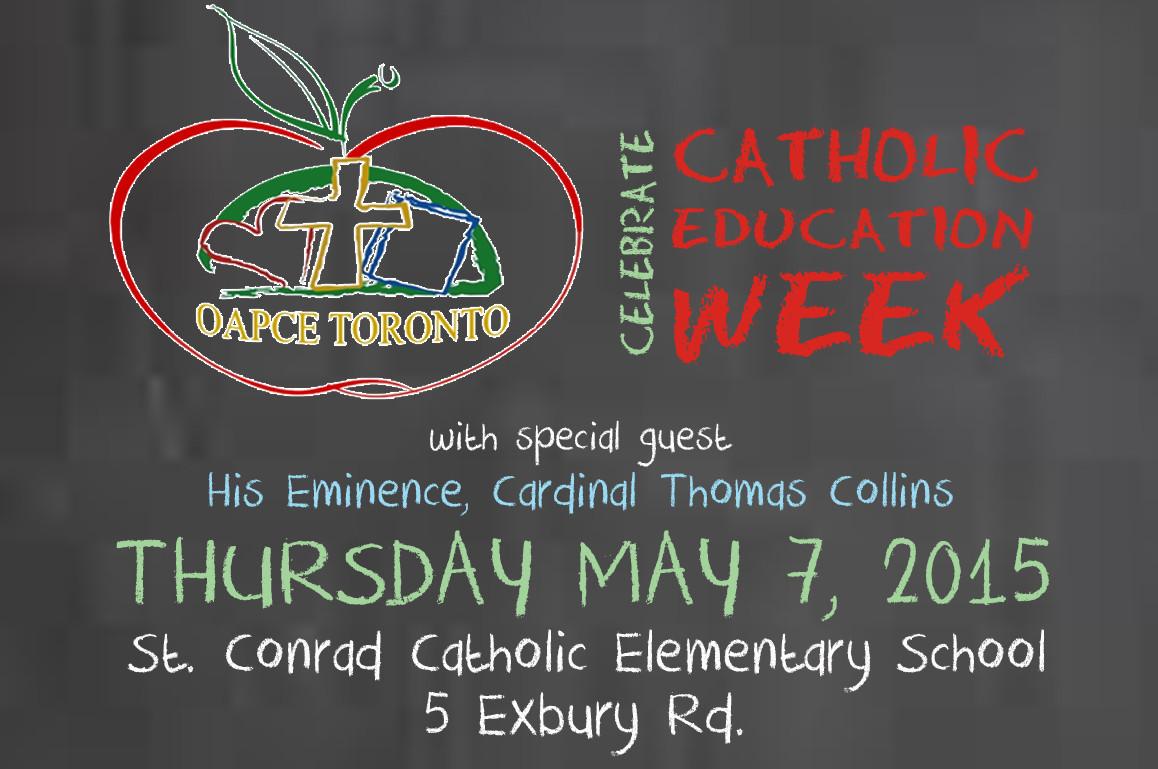 OAPCE-Toronto Celebrates Catholic Education Week