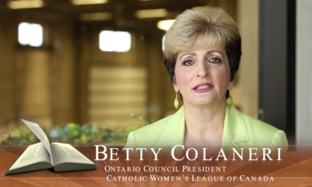 Faith in Our Future: Betty Colaneri, Catholic Women's League – Ontario Council President