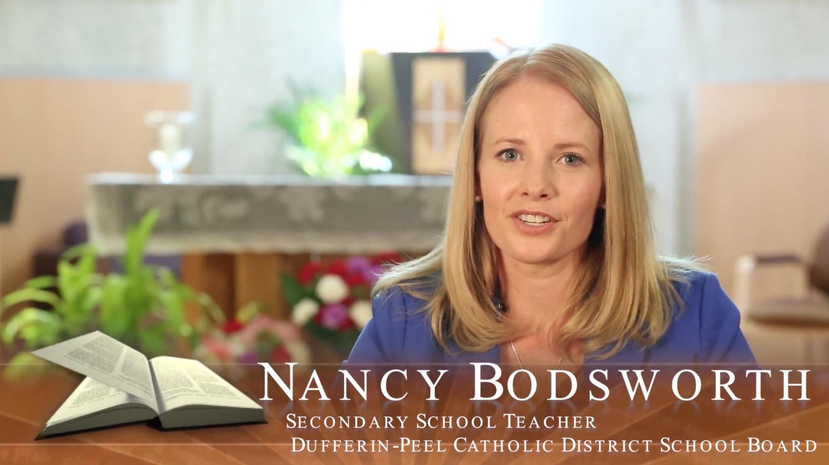 Faith in Our Future – Catholic Teacher Profile – Nancy Bodsworth