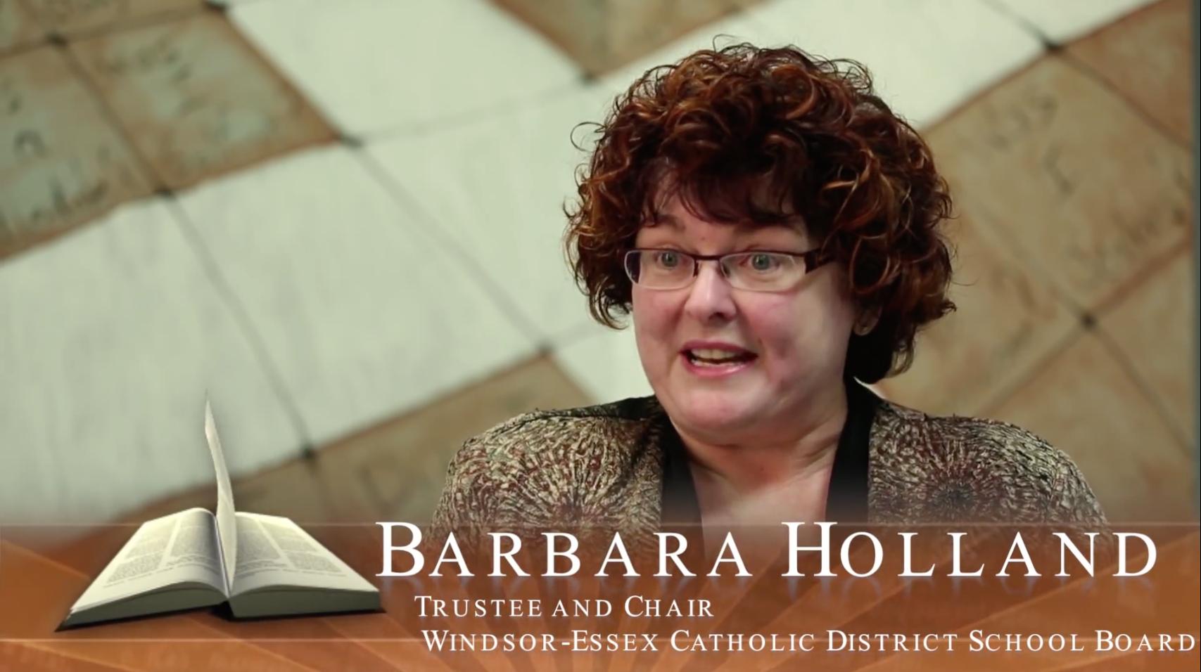 Faith in Our Future – Ontario's Catholic Schools: Barbara Holland, School Trustee