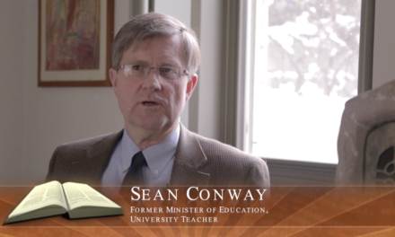 Sean Conway, Former Ontario Minister of Education, Faith in Our Future Series