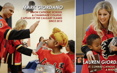 Calgary Flame Captain Marc Giordano and Wife Lauren Receive Toronto CDSB Alumni Award