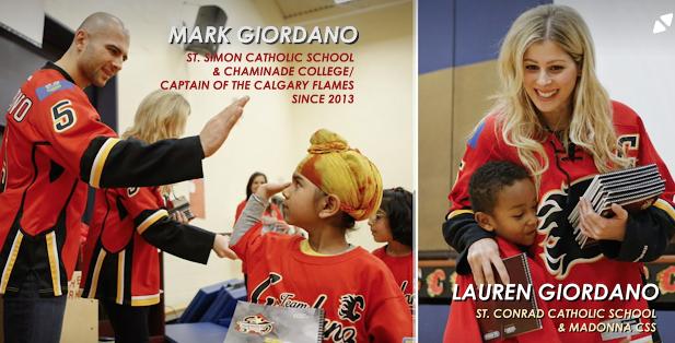 Calgary Flame Captain Marc Giordano and Wife Lauren Receive Toronto CDSB Alumni Award
