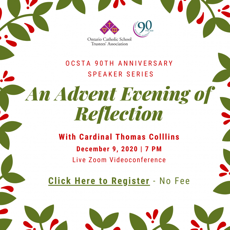 OCSTA Advent Event with Cardinal Collins